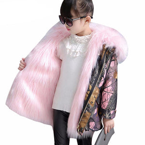 Faux Fox Fur Jackets For Girls - Chilly Baby