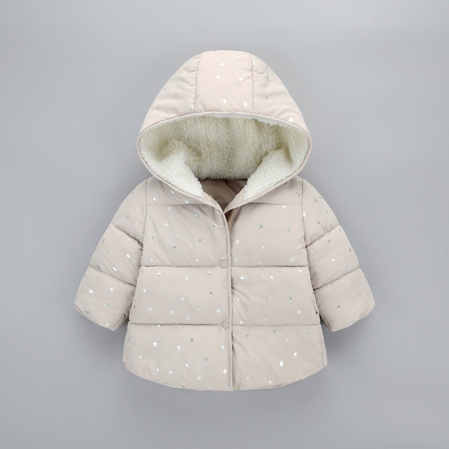 Windproof Thicken Cotton Star Hooded Coats - Chilly Baby