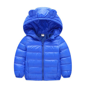 Windproof Down Thicken Hooded Coats For Girls - Chilly Baby