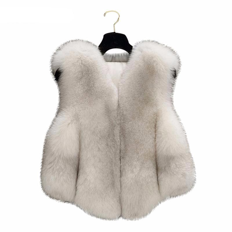 Girls Faux Fox Fur Coat - Chilly Baby