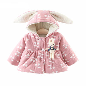 Cute Thick Cotton Brooch Cherry Printed Padded For Girl - Chilly Baby