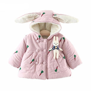 Girls Warm Printed Fleece Coats - Chilly Baby