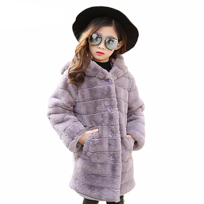Faux fur jacket for girls - Chilly Baby