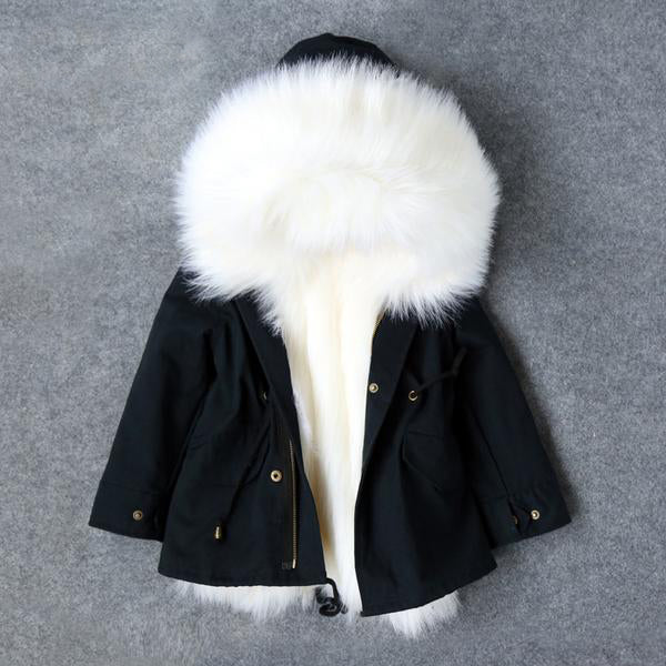 Warm Big Fur Collar Hooded Down Jacket - Chilly Baby