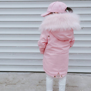 Faux Fox Fur Liner Coat - Chilly Baby