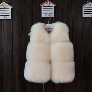 Luxury Faux Fox Fur For Girls - Chilly Baby