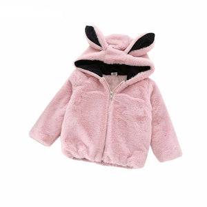 Cartoon Rabbit Ears Hooded Jacket - Chilly Baby