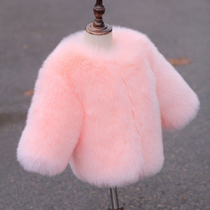 Girls Fur Jackets - Chilly Baby