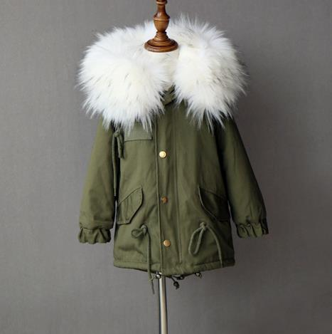 Faux Fur Detachable Liner Coat - Chilly Baby
