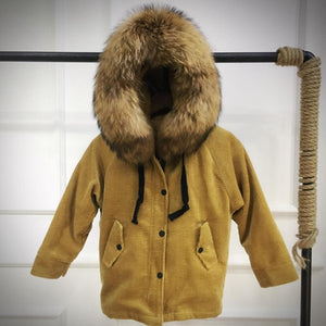 Natural Fur Jackets For Girls - Chilly Baby