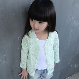 Long Sleeve Sunscreen Jacket For Girl - Chilly Baby