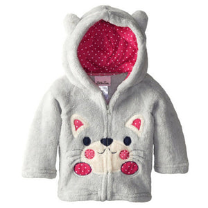 Animal Coral Outerwear Coat For Infant Girls - Chilly Baby