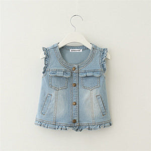 Jeans Vest For Girls - Chilly Baby