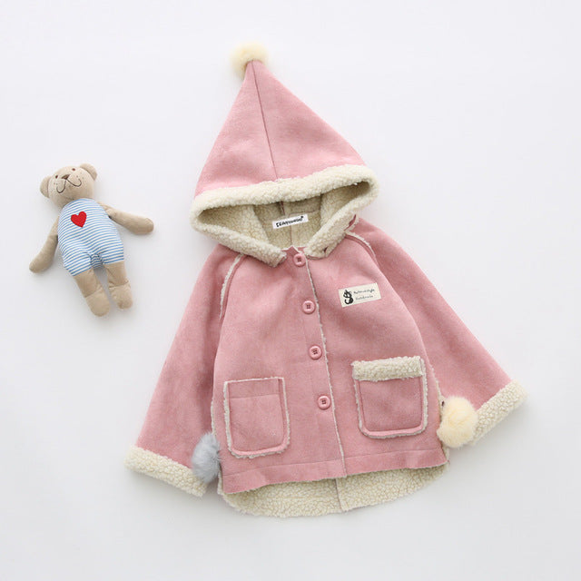 Girls Deerskin Fleece Coat - Chilly Baby