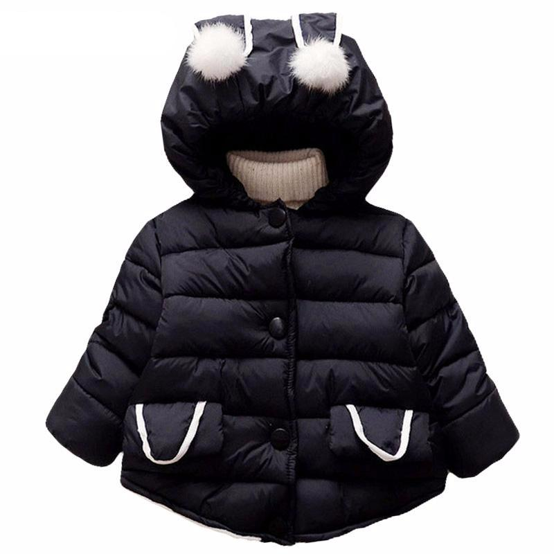 Cute Rabbit Ear Hooded Girls Coat - Chilly Baby
