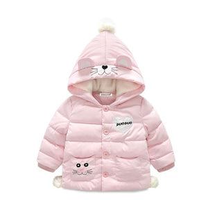 Cat Print Jacket For Girls - Chilly Baby