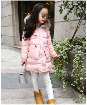 Winter Down Jacket For Girl - Chilly Baby