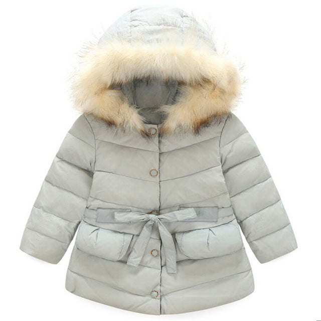Thicken Cotton Jacket For Girls - Chilly Baby