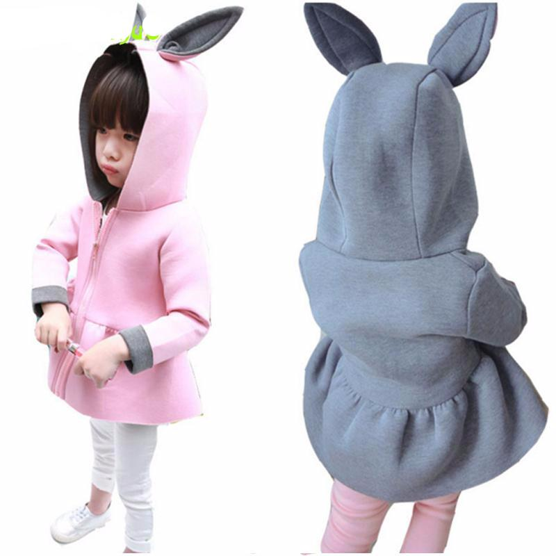 Infant Rabbit Hooded Jacket For Girls - Chilly Baby