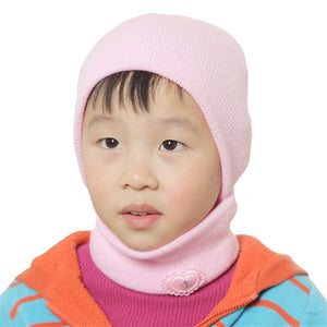 Knitting Baby Solid Color Warm Hat with Scarf - Chilly Baby