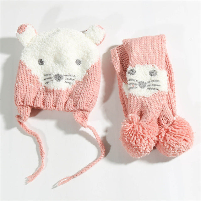Knit Warm Toddlers Kids Hats - Chilly Baby