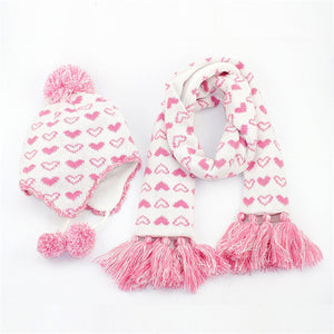Love Heart Kids Hat Scarf set - Chilly Baby