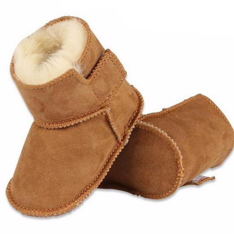 Genuine leather winter infants warm shoes - Chilly Baby