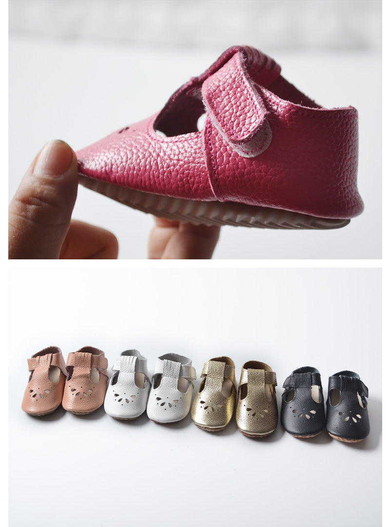 Genuine Leather handmade rubber sole baby shoes - Chilly Baby