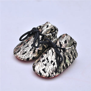 Genuine Leather Baby Moccasins Shoes - Chilly Baby