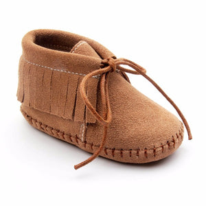 Genuine cow Leather Tassels Baby Soft Sole Shoes - Chilly Baby