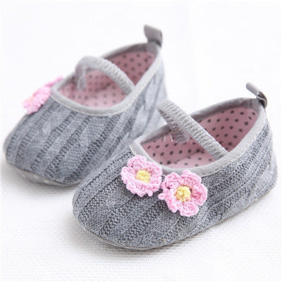 Sweet Newborn Baby Princess Mary Jane Flower Baby Shoes - Chilly Baby