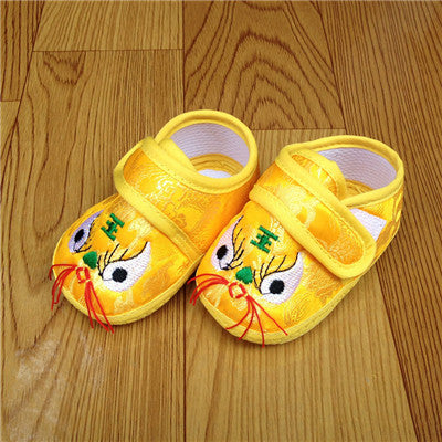 Tiger Head Soft Bottom Anti-slip Shoes - Chilly Baby