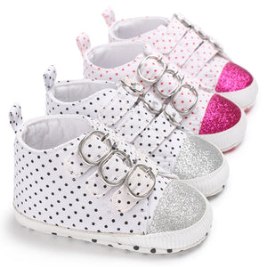 Polka Dot Canvas shoes - Chilly Baby
