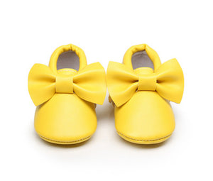 Soft Bottom Fashion Bow Design Baby Boots - Chilly Baby