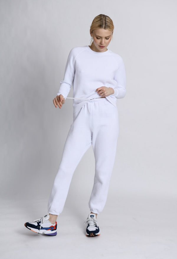 Stevie Sweatpant in White