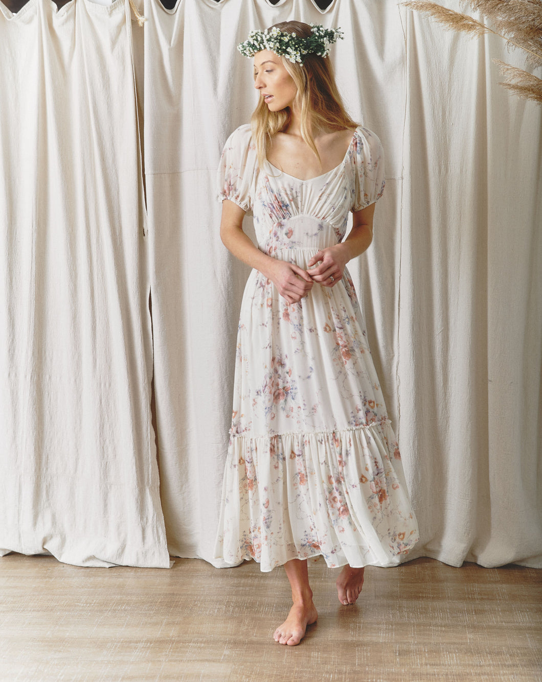 Angie Floral Maxi Dress