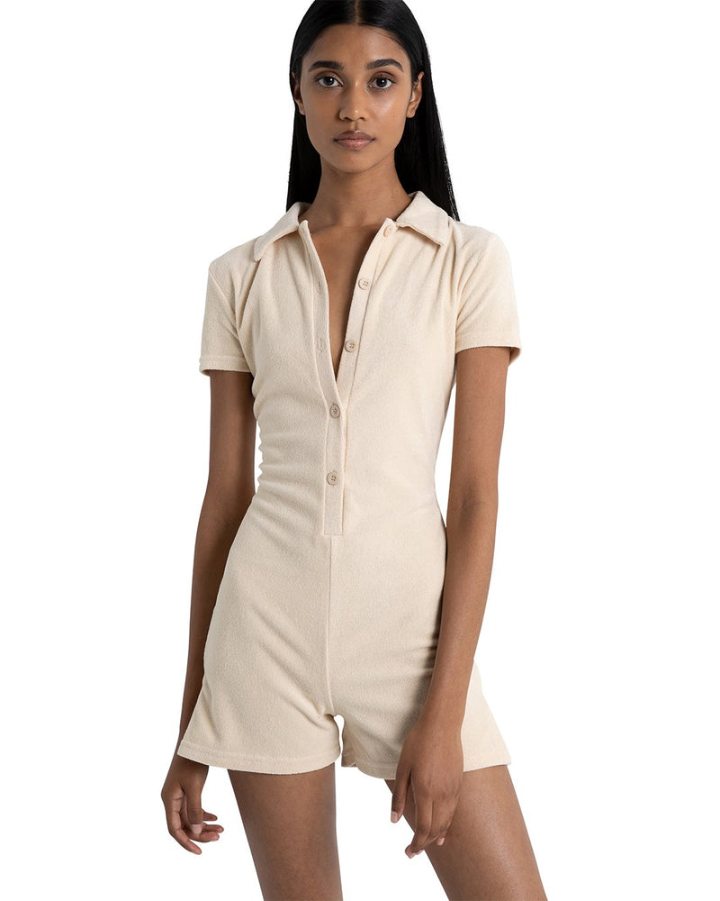 Jaqueline Playsuit In Beige