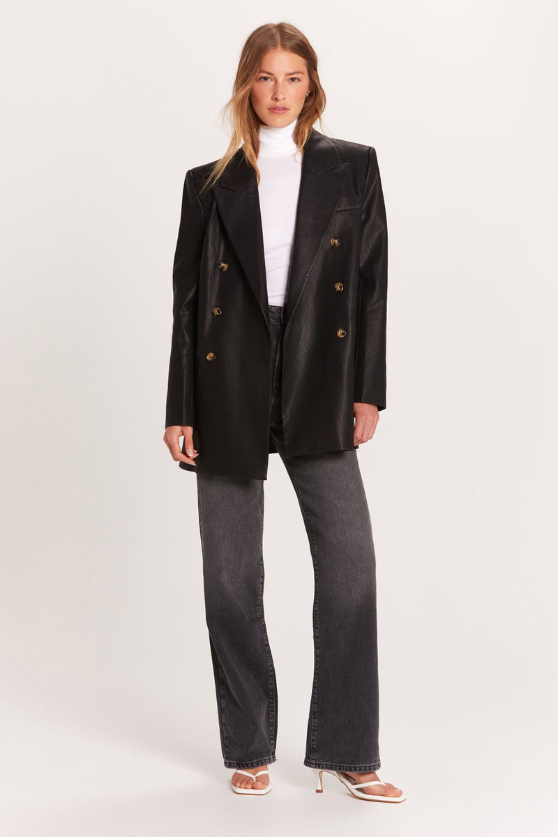 Vegan Double Breasted Blazer
