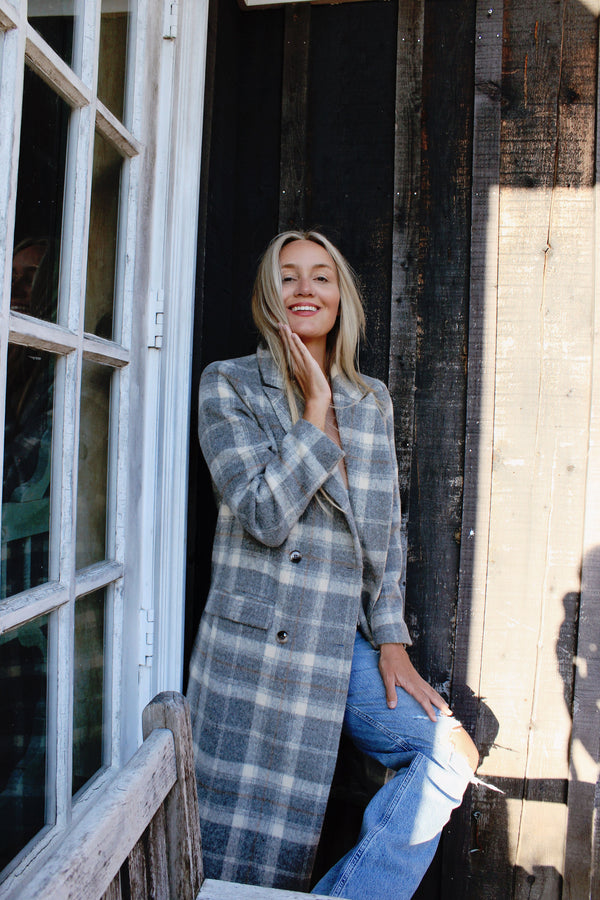Raquel Plaid Coat
