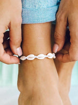 KNOTTED COWRIES ANKLET