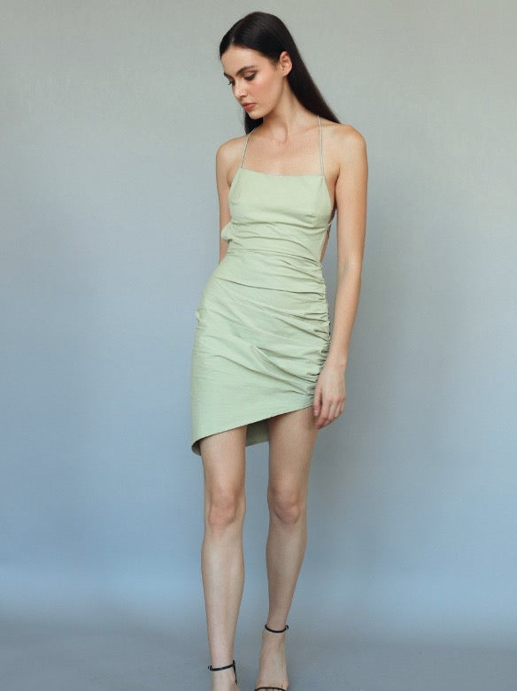 Open Back Dress in Sage
