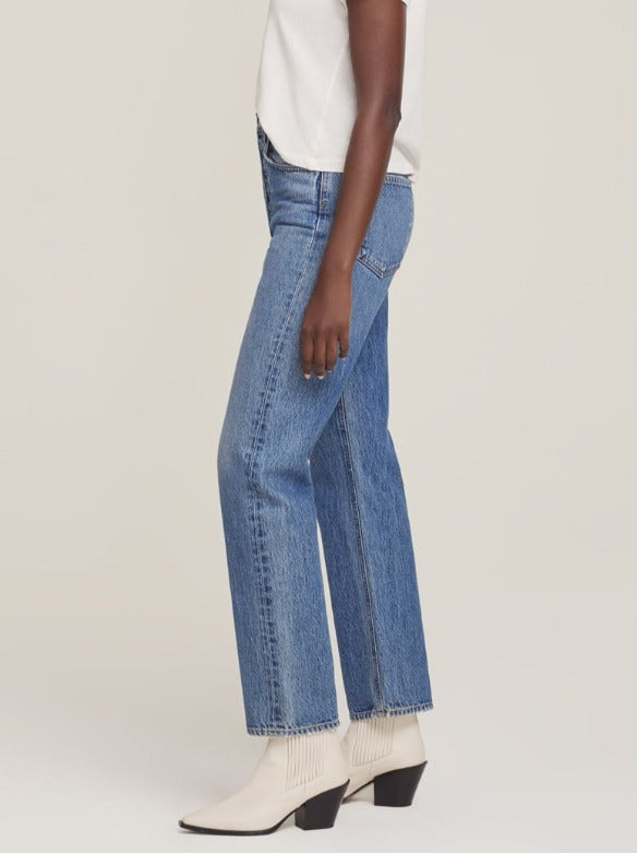 90's Pinch Waist High Rise Straight in Navigate