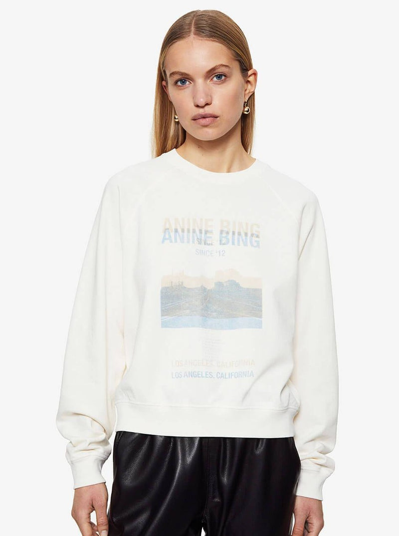 ARLO SWEATSHIRT DESERT ROAD IN WHITE