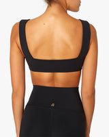 Bandeau Bra Top Jet Black