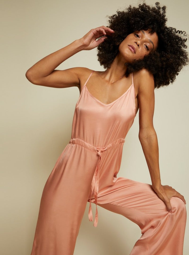 ALY EASY PLAYSUIT IN PINK GLAZE