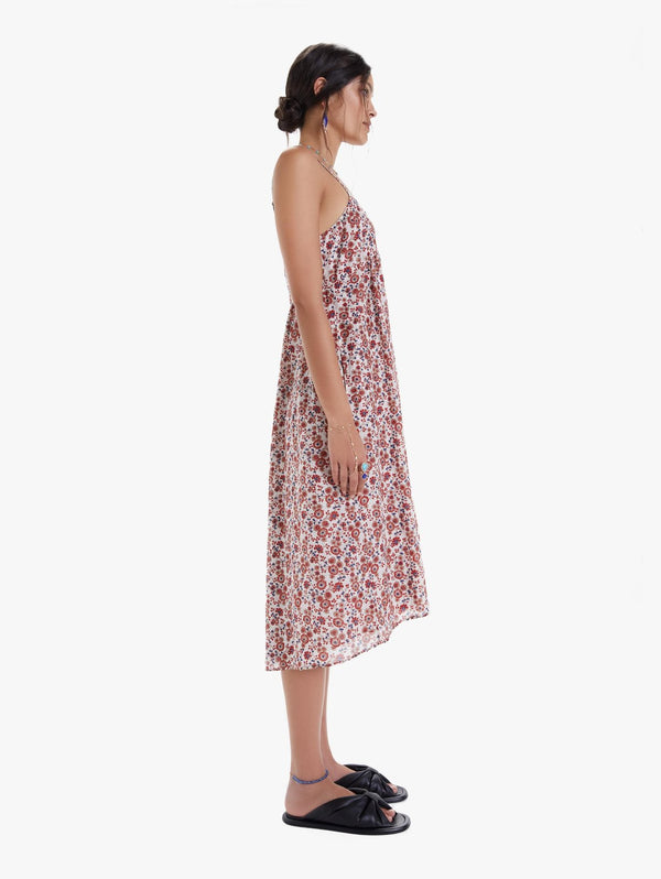 Dani Dress In  Red Spark Floral