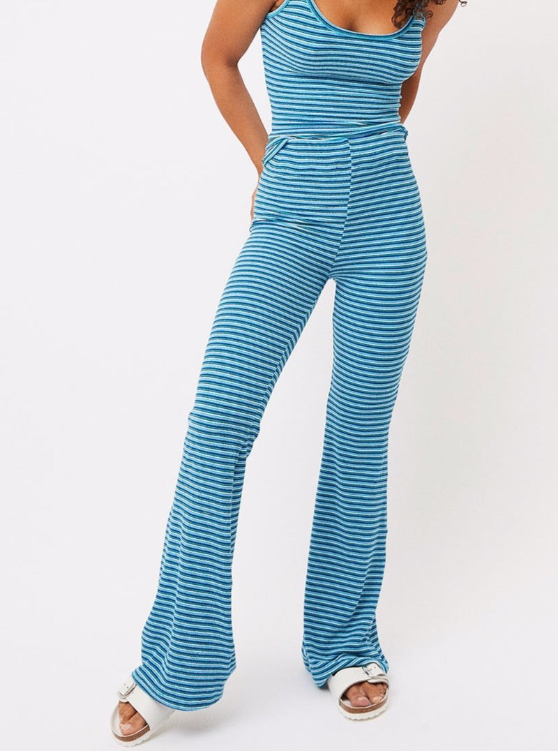 JOHNSON STRIPED TERRY PANTS
