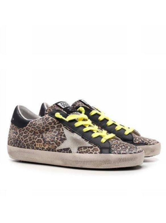 SUPERSTAR LEOPARD SUEDE UPPER SUEDE STAR LEATHER HEEL