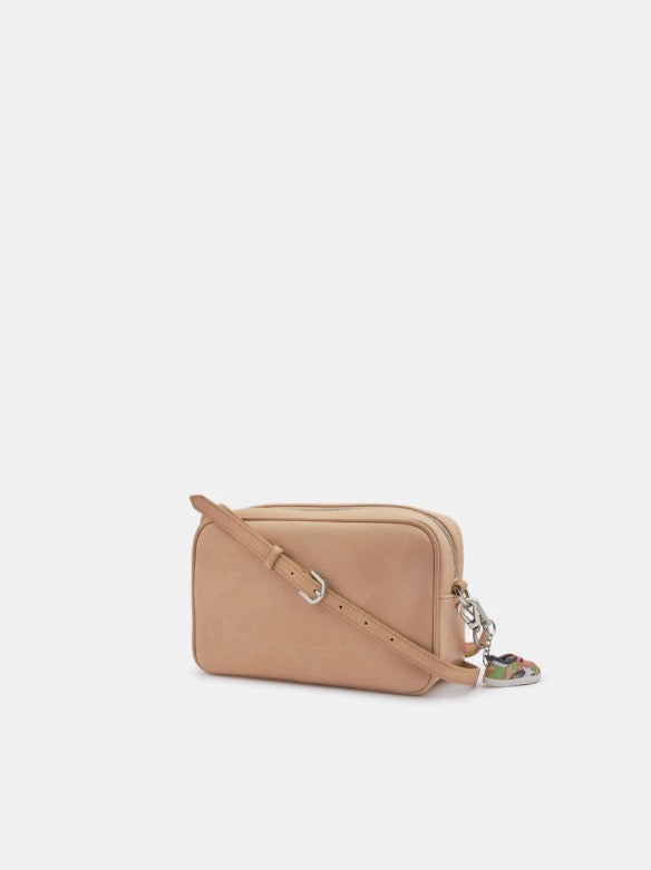 Star Bag Hammered Leather Nude