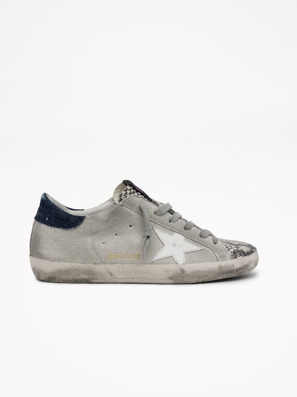 Superstar Suede Upper Leather Star Python Printed Toe